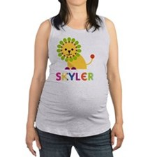 Skyler-the-lion Maternity Tank Top