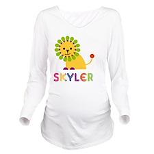 Skyler-the-lion Long Sleeve Maternity T-Shirt