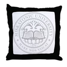 MiskatonicU_Logo_lt Throw Pillow