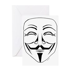 Anonymous Mask Pin Greeting Card