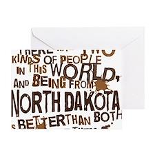 northdakota_brown Greeting Card