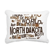 northdakota_brown Rectangular Canvas Pillow