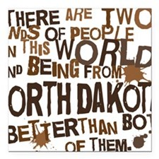 "northdakota_brown Square Car Magnet 3"" x 3"""