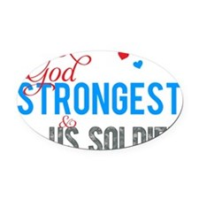 strongestARMY2 Oval Car Magnet