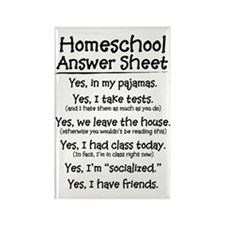 Homeschool Answers Rectangle Magnet