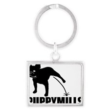 Puppymill_Frenchie_light Landscape Keychain