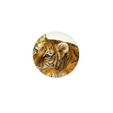 young tiger Mini Button