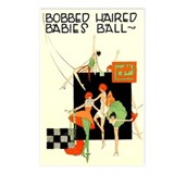 Bobbed haired flappers Postcards (Package of 8)