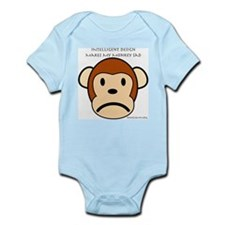 Intelligent Design Makes My Monkey Sad Infant Body