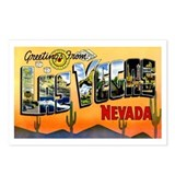 Las Vegas Nevada Greetings Postcards (Package of 8