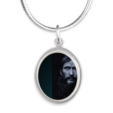 rasputin Silver Oval Necklace