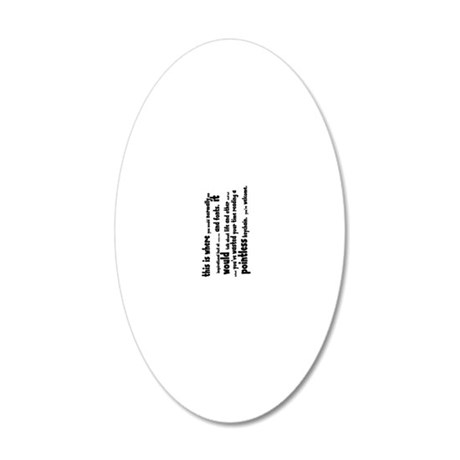 pointless keychain 20x12 Oval Wall Decal