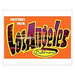 Los Angeles California Greetings Small Poster