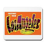 Los Angeles California Greetings Mousepad