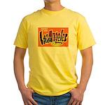 Los Angeles California Greetings Yellow T-Shirt