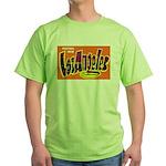 Los Angeles California (Front) Green T-Shirt