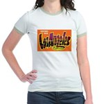 Los Angeles California (Front) Jr. Ringer T-Shirt