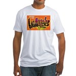 Los Angeles California (Front) Fitted T-Shirt