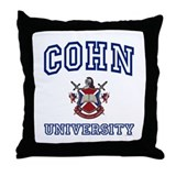 COHN University Throw Pillow