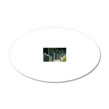 Fairview Lawn Cemetery, home 20x12 Oval Wall Decal