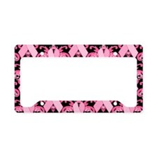 PinkRibHLLLPbMiniW License Plate Holder