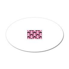 PinkRibHLLLPbMiniW 20x12 Oval Wall Decal