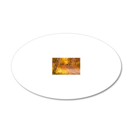 AutumnFoliageRural_9X12 20x12 Oval Wall Decal