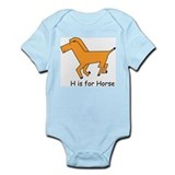 H is for Horse Infant Bodysuit
