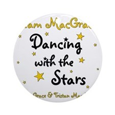 DWTS-NancyGrace Round Ornament