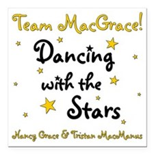 "DWTS-NancyGrace Square Car Magnet 3"" x 3"""
