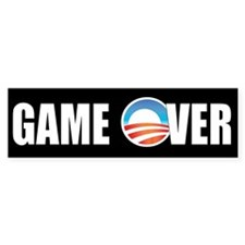 Game Over Obama Bumper Bumper Sticker