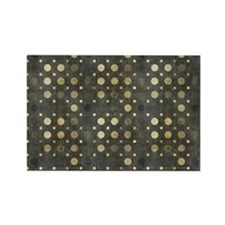 Gold Polka Toiletry Rectangle Magnet