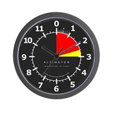 Altimeter Wall Clock (Black)