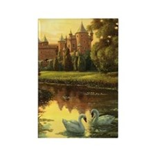 Swans Journal Rectangle Magnet