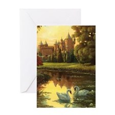 Swans Journal Greeting Card
