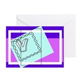 """V"" Squiggly Square Greeting Cards (Pk of 10)"