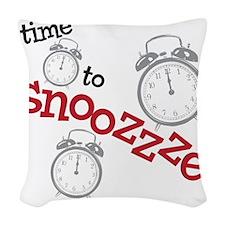 snooze Woven Throw Pillow