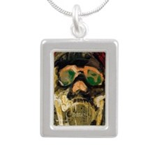 Skull_ScreamingWhiteFung Silver Portrait Necklace