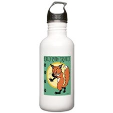 FauxPawLogo_full Sports Water Bottle