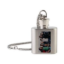 dansfirstourwithmatt_keychain Flask Necklace
