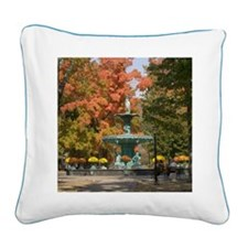 Fountain Box Fall Square Canvas Pillow