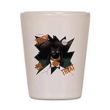 BlackDoxieHalloweenShirt1 Shot Glass