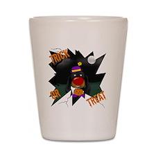 BlackDoxieHalloweenShirt2 Shot Glass