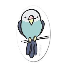blue_parakeet 35x21 Oval Wall Decal