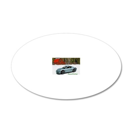 Hot Wheels_Porsche Cayman S_ 20x12 Oval Wall Decal