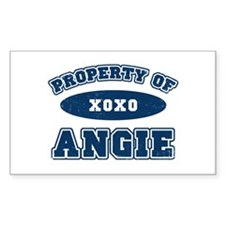 """""""Property of Angie"""" Rectangle Decal"""