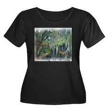 city par Women's Plus Size Dark Scoop Neck T-Shirt