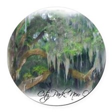 city park new orleans Round Car Magnet