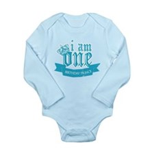 First Birthday Prince Long Sleeve Infant Bodysuit