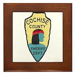 Cochise County Sheriff Framed Tile